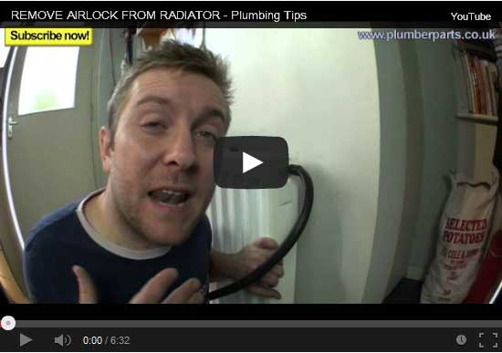 how to remove an airlock from a radiator